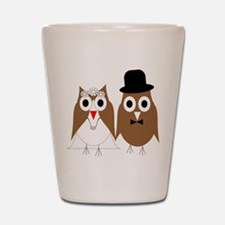 Wedding Owls Shot Glass