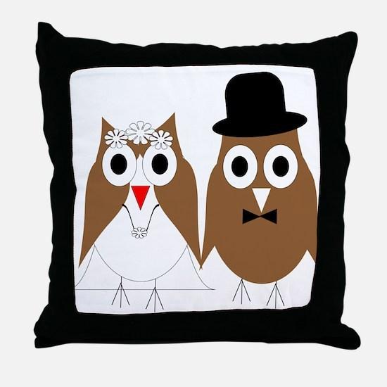Wedding Owls Throw Pillow