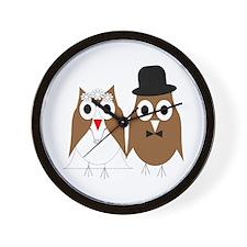 Wedding Owls Wall Clock
