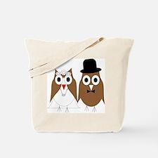 Wedding Owls Tote Bag