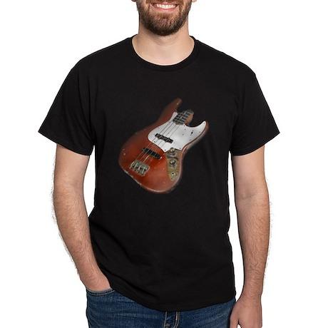 Red Relic Bass Guitar Dark T-Shirt
