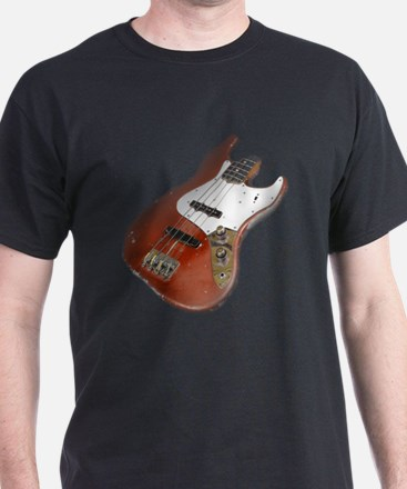 Red Relic Bass Guitar T-Shirt