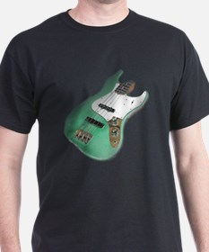 Green Relic Bass Guitar T-Shirt