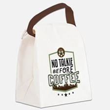 No Talkie Before Coffee Canvas Lunch Bag