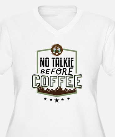 No Talkie Before Coffee Plus Size T-Shirt