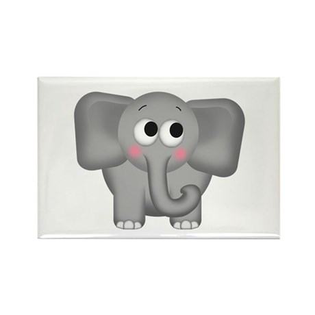 Adorable Elephant Rectangle Magnet