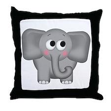 Adorable Elephant Throw Pillow