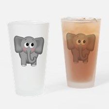 Adorable Elephant Drinking Glass