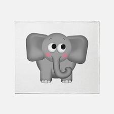Adorable Elephant Throw Blanket