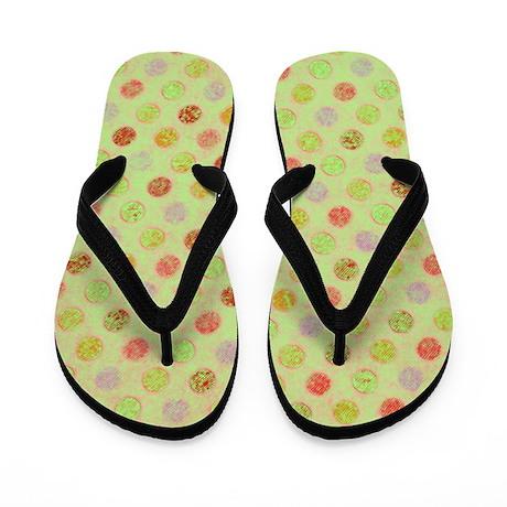 Lots O Dots Sketchy Green Flip Flops