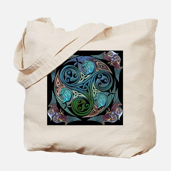 Celtic Spiral of Life Tote Bag