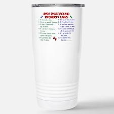 Cute Irish wolfhound Travel Mug
