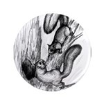 "Squirrels 3.5"" Button (100 pack)"
