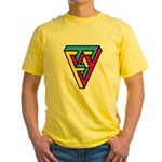 CMYK Triangle Yellow T-Shirt