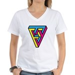 CMYK Triangle Women's V-Neck T-Shirt