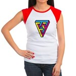 CMYK Triangle Women's Cap Sleeve T-Shirt