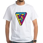 CMYK Triangle White T-Shirt