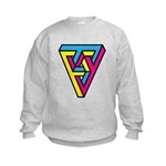 CMYK Triangle Kids Sweatshirt