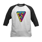 CMYK Triangle Kids Baseball Jersey
