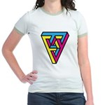 CMYK Triangle Jr. Ringer T-Shirt