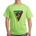 CMYK Triangle Green T-Shirt