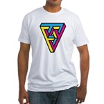 CMYK Triangle Fitted T-Shirt