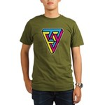 CMYK Triangle Organic Men's T-Shirt (dark)