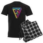 CMYK Triangle Men's Dark Pajamas