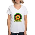 Captain Jamaica Women's V-Neck T-Shirt