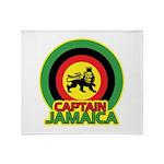 Captain Jamaica Throw Blanket