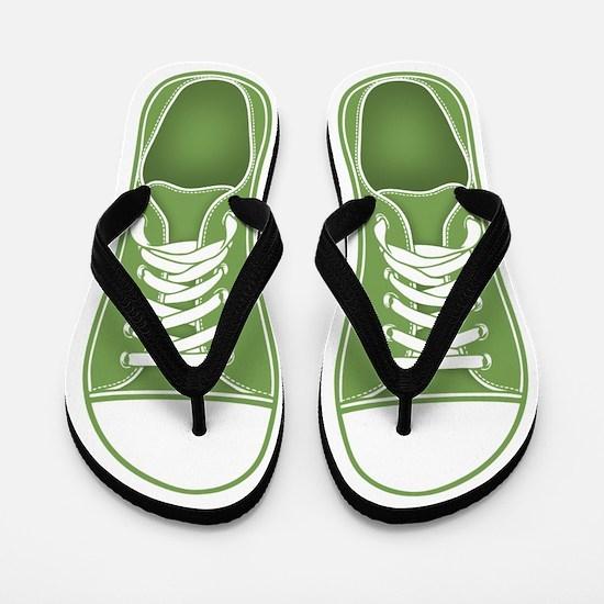 Green Sneaker Flip Flops
