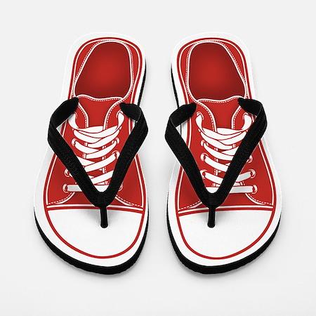 Red Sneaker Flip Flops