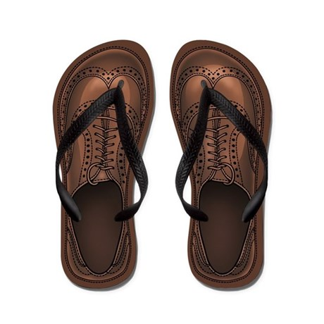 Wing-Tip Flip Flops by vicevoices