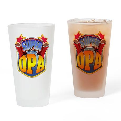 Super Opa Drinking Glass