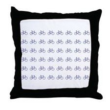 Unique Bicycle riders Throw Pillow