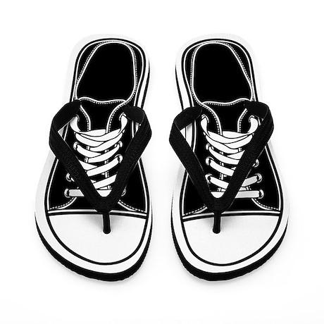 Black & White Flip Flops