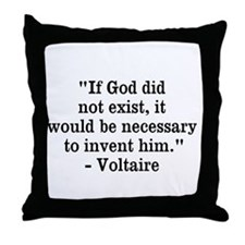 Voltaire Quote Throw Pillow