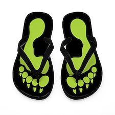 Werewolf Tracks Flip Flops
