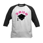 Pink 2030 Graduation Hat Logo Kids Baseball Jersey