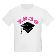 Pink 2030 Graduation Hat Logo T-Shirt