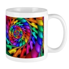 """Color 11"" Fractal Art Small Mug"