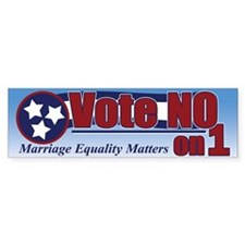 """NO"" on 1 Bumper Bumper Sticker"