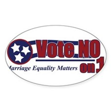 """NO"" on 1 Oval Decal"