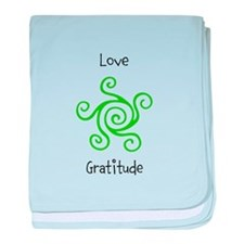 Unique Gratitude baby blanket