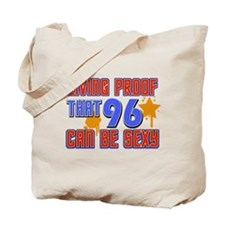 Cool 96 year old birthday design Tote Bag