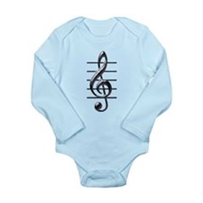 TREBLE CLEF Long Sleeve Infant Bodysuit