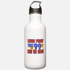 Cool 99 year old birthday design Water Bottle