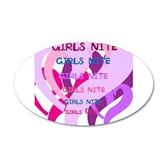OYOOS girls nite design 38.5 x 24.5 Oval Wall Peel