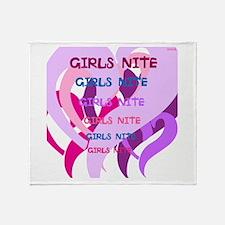 OYOOS girls nite design Throw Blanket