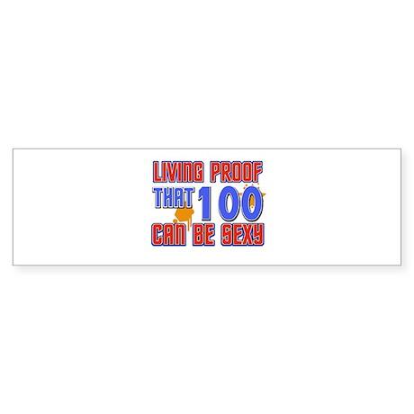 Cool 100 year old birthday design Sticker (Bumper)